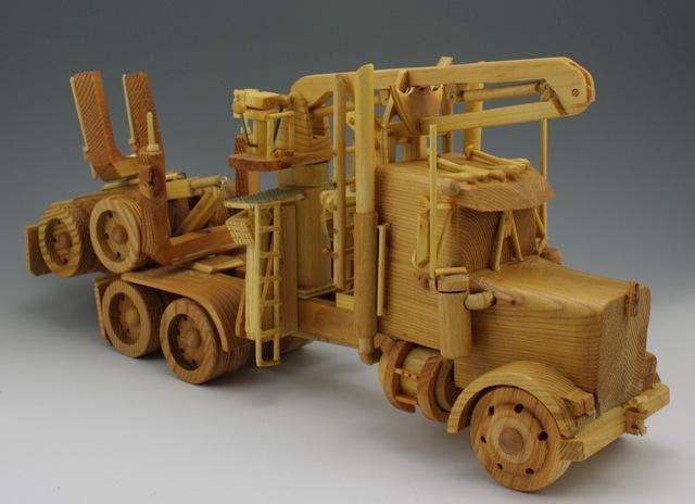 Wooden truck art
