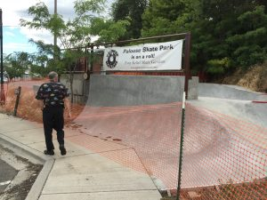 Future site of accessible skate park in Palouse